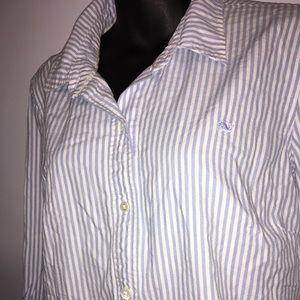 Vineyard Vines Blue Button Up Long Sleeve Shirt